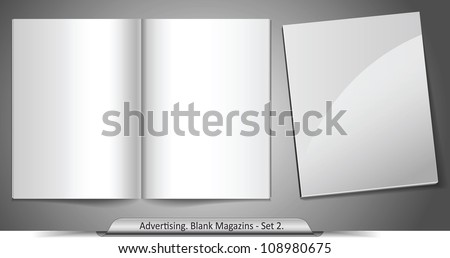 Vector blank magazines. Template for your design. Set 2