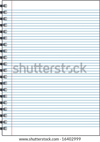 vector blank notebook illustration - great for adding your own text and messages!