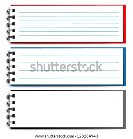 Vector blank open notebook