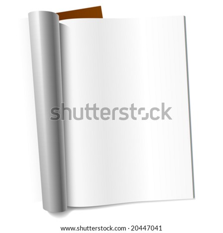 Vector blank page of magazine. Insert your graphics.