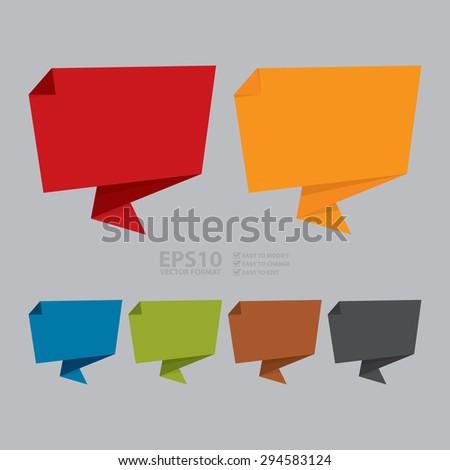 vector   blank paper origami