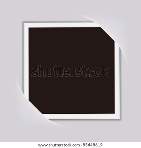 vector blank photo frame on a paper background - stock vector
