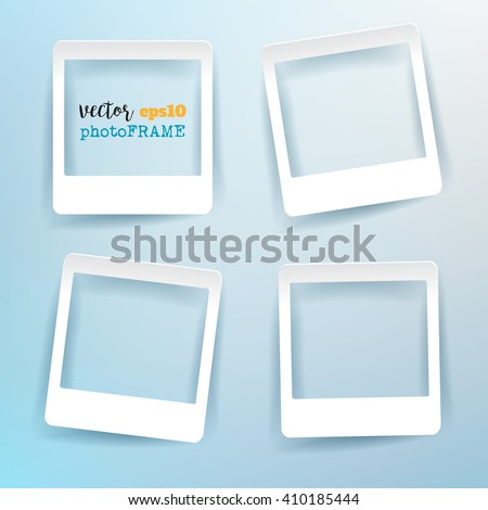 vector blank photo frames with