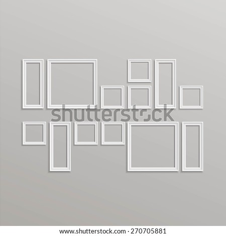vector blank picture frame