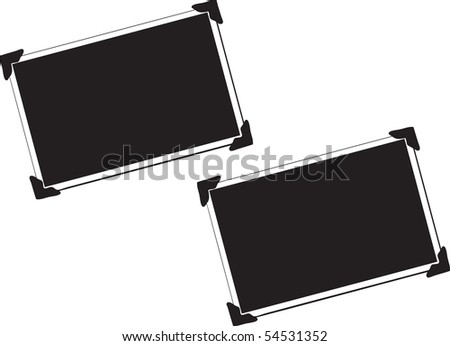 Vector Blank Pictures with photo corners on white background