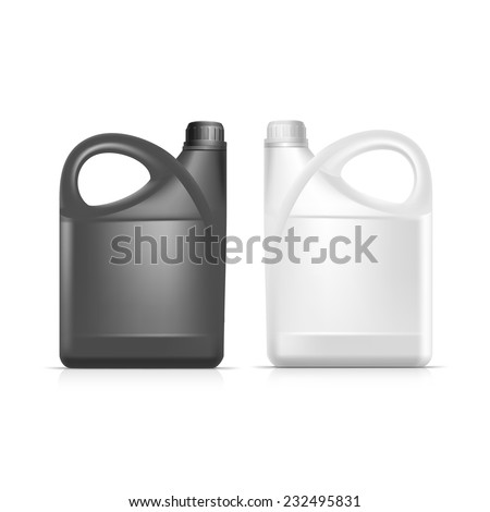 vector blank plastic jerrycan