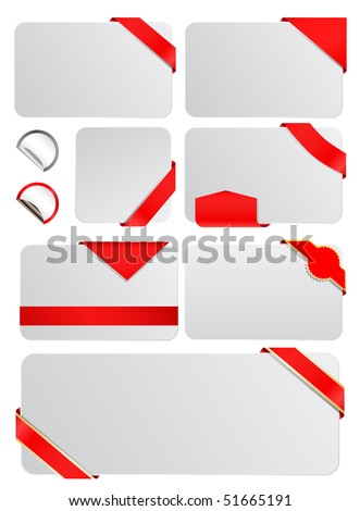 vector blank tags with banners