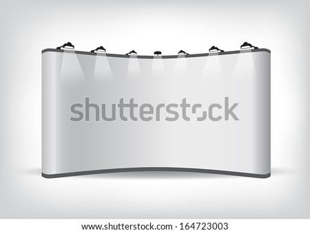 Vector blank trade show booth