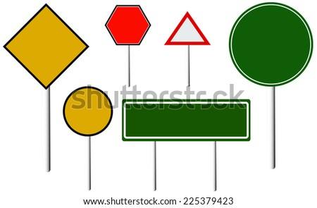 Vector Blank Traffic Signs