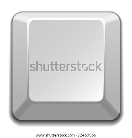 vector blank white key