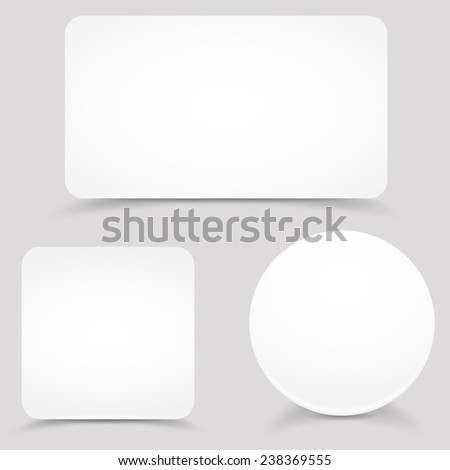Vector blank white paper banners template  #238369555