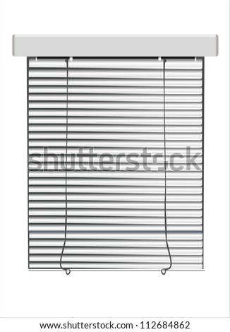 vector  blinds isolated on white