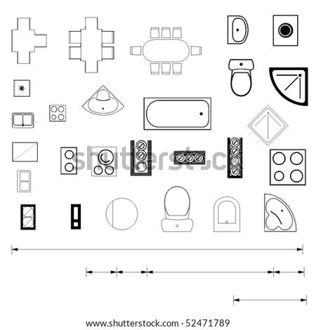 Мебель схемы вид сверху