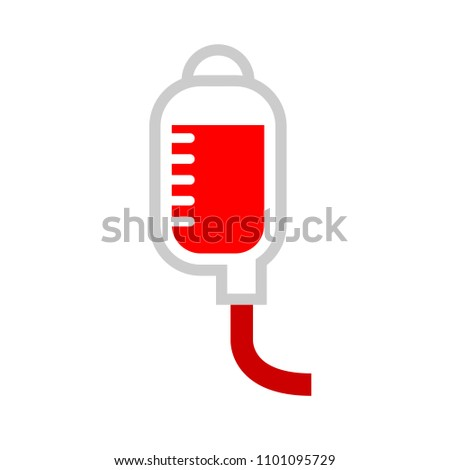 vector blood donation illustration - health care icon, medical sign
