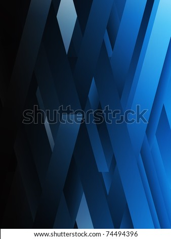 Vector - Blue abstract geometric lines background.