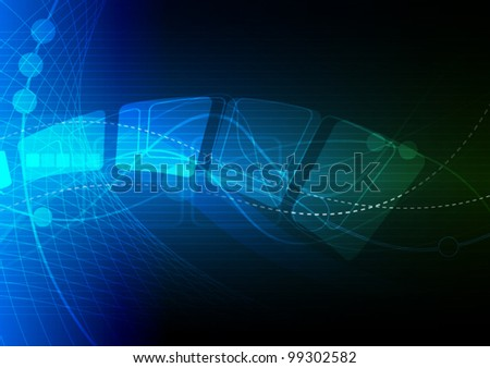 vector blue abstract technology background design
