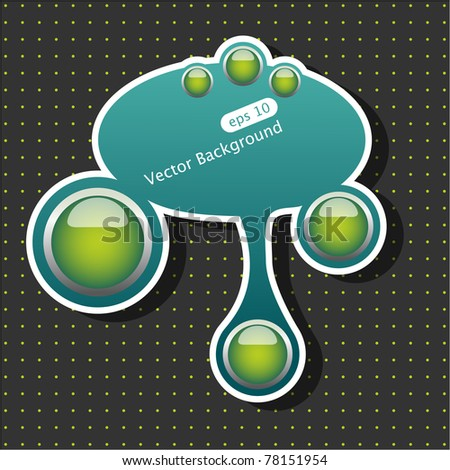 Vector blue and green abstract web element