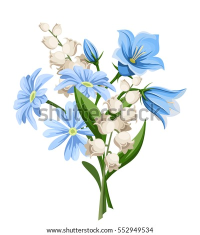 vector blue and white spring