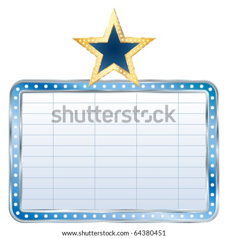 vector blue blank billboard with star