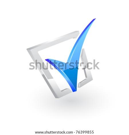 Vector blue checkmark.