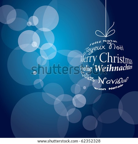 vector blue christmas background, eps 10 file