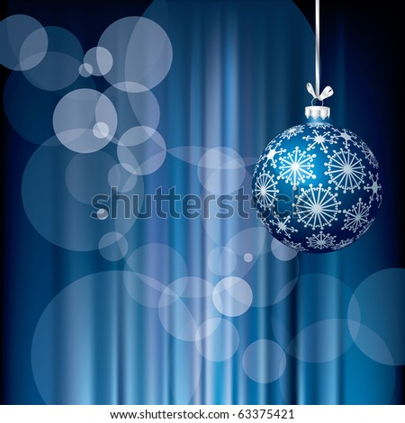 vector blue Christmas holidays background, layered and fully editable eps 10 file