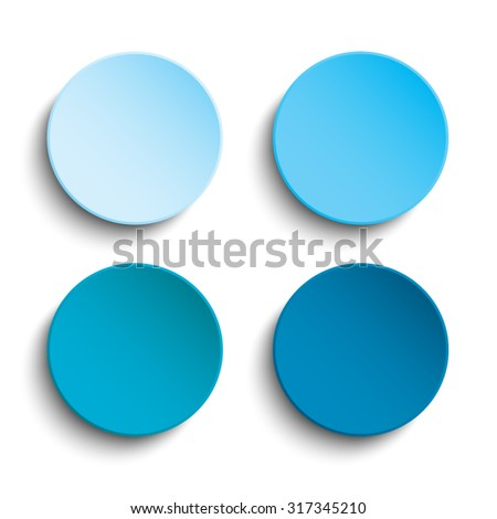 vector blue circle button on