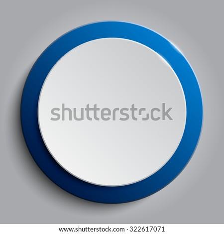 vector blue circle button on