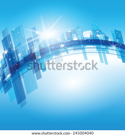 vector blue city  abstract...