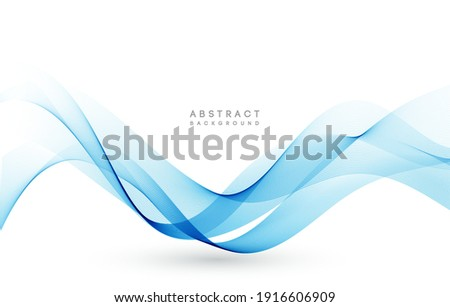 vector blue color abstract wave