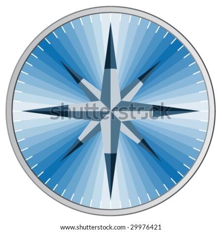 Vector blue compass