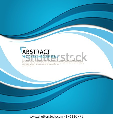 Vector blue curves background. Frame for text. Curved shapes. Curve wave. Curved frame. Smooth Curve Lines Background. Concept design for brochure or flyer template