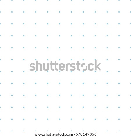 Vector blue dotted grid graph paper seamless pattern, printable, dots every 5 mm, can be used for bullet journals