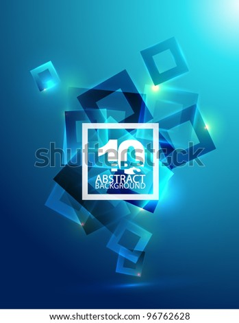Vector blue eps10 geometric abstract background - stock vector