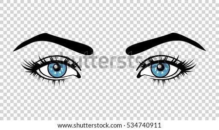 Beautiful Woman's Eyes Close-up, Thick Long Eyelashes, Black.. Royalty Free  Cliparts, Vectors, And Stock Illustration. Image 81365424.