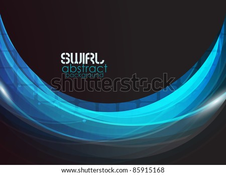 vector blue flow abstract