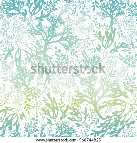 vector blue freen seaweed