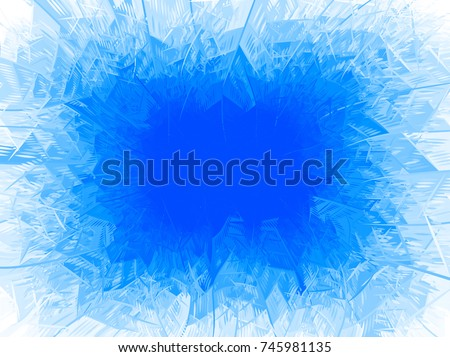 Vector blue frost frame. Eps8. RGB. One global color