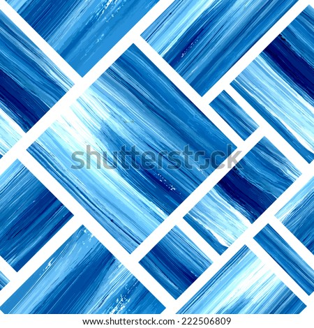 vector blue geometric acrylic
