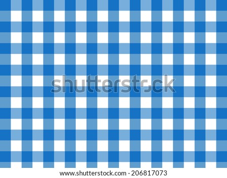 Vector Blue Gingham Fabric Texture (for A Traditional Tablecloth, Curtains,  Plaid, Etc