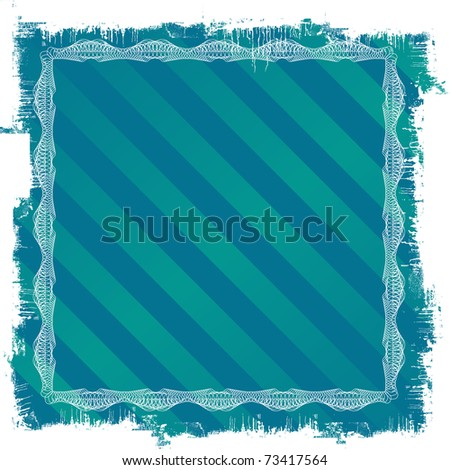 vector blue grunge background with Guilloche pattern
