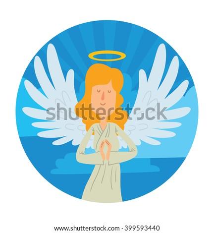 vector blue heaven round frame