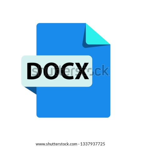 Vector DOCX Icon - Download Free Vector Art, Stock Graphics