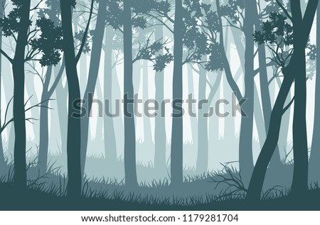 vector blue landscape with