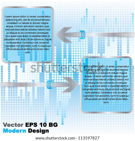 Vector blue modern abstract brochure design with arrow and place for text