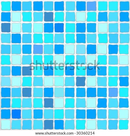 Vector Blue Mosaic Tiles