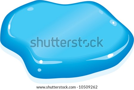 vector BLUE paint spill blob - lots of uses!