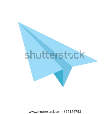 Vector blue paper airplane icon