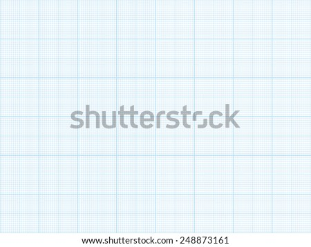 Vector blue plotting graph grid paper background
