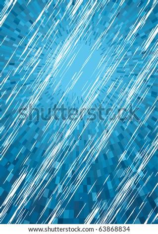 Vector Blue Rainy background